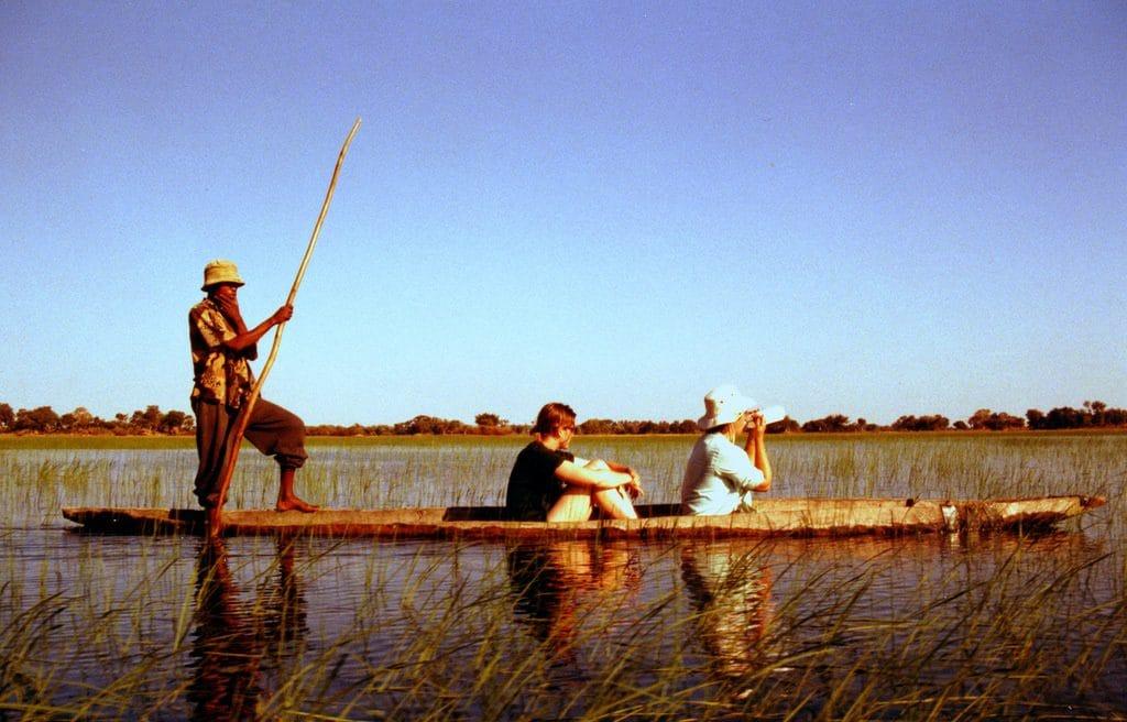 mokoro rides on the Okavango