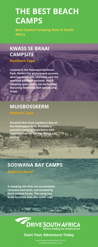 beach camps in South Africa