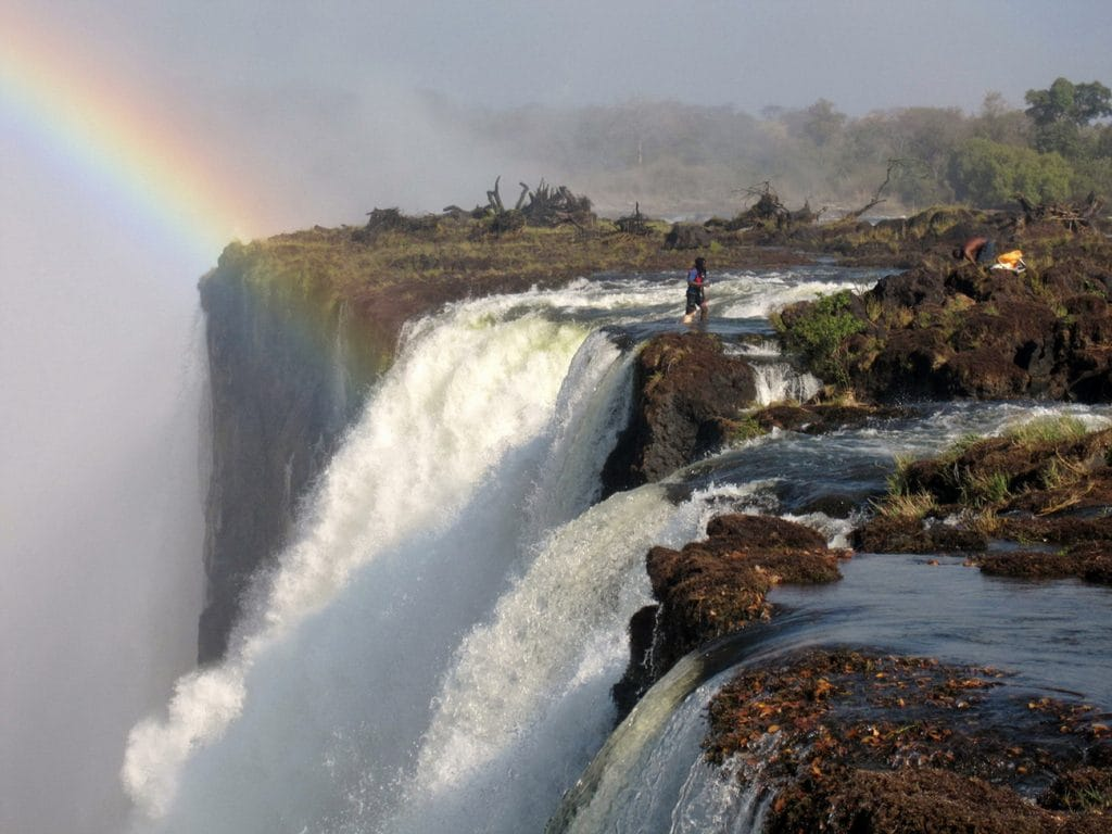 Devil's Pool - Victoria Falls From Livingstone Island. (Photo by Greg and Ashley)