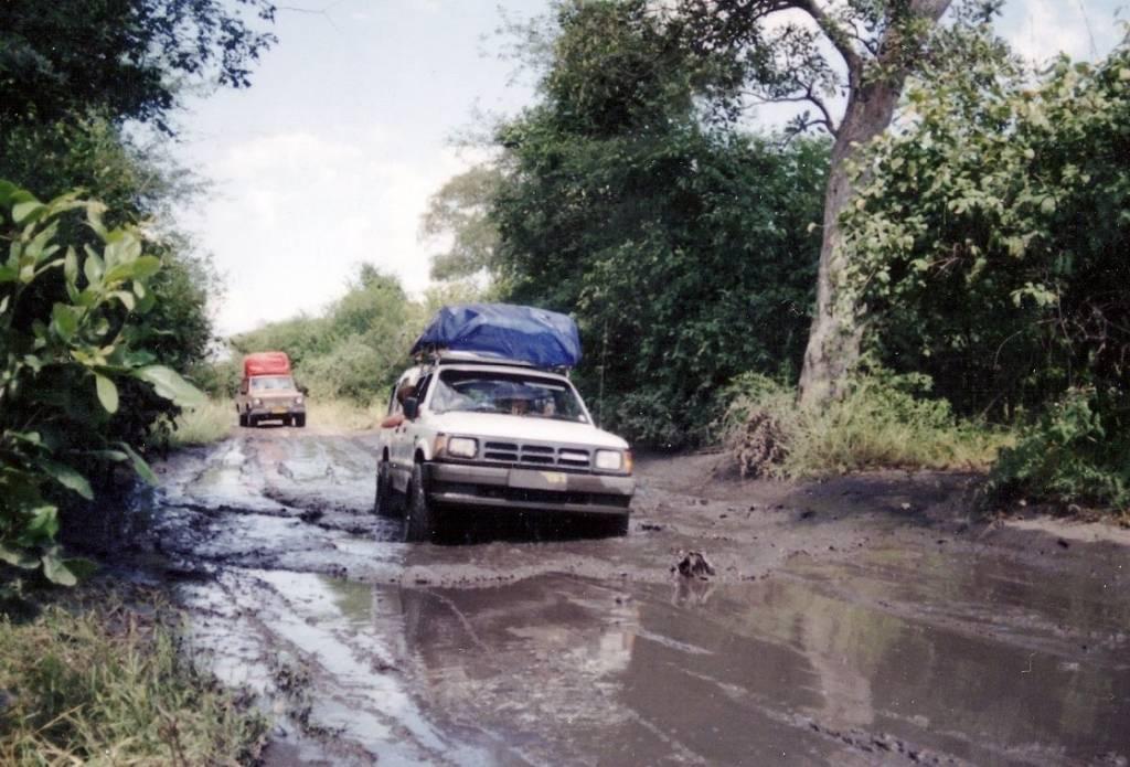 botswana roads in the rainy season