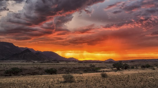 The landscape of Namibia