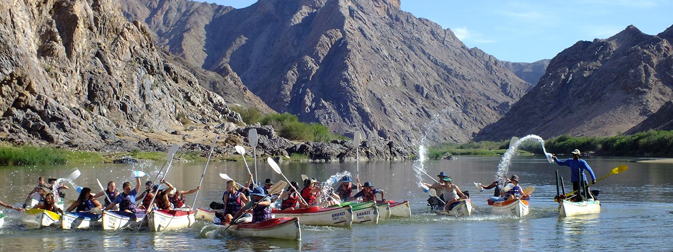 Canoeing on the Orange River