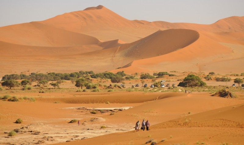 The landscape of Sossusvlei