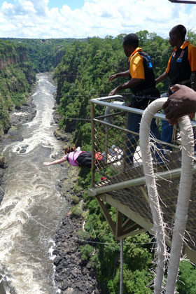 Bungee Jump from Zambezi Bridge