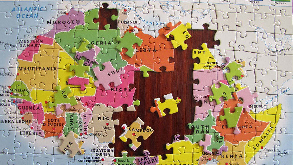 African jigsaw puzzle for kids