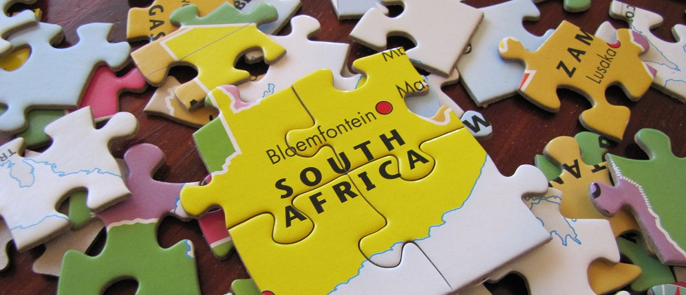 Jigsaw puzzle for kids of Africa