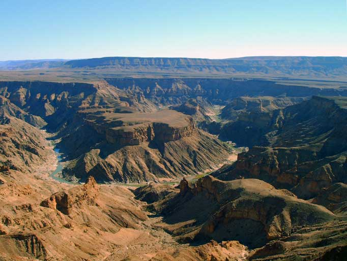 The Fish River Canyon is spectactular year-round
