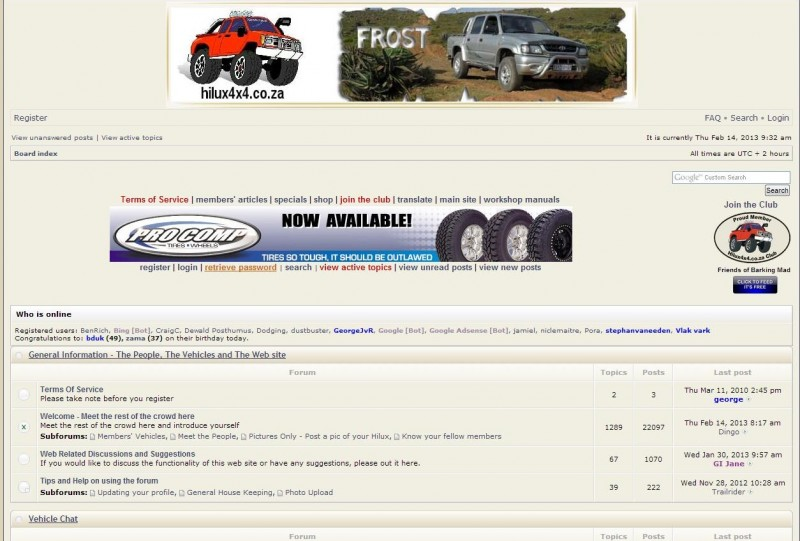South African 4x4 forums - Hilux 4x4 Forum