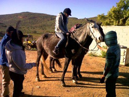 Horseriding on farm Opsoek