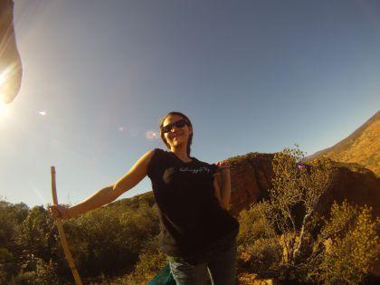 Li-Anne in the Klein Karoo surrounds