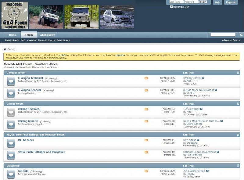 4x4 forum in South Africa - Mercedes 4x4 Forum