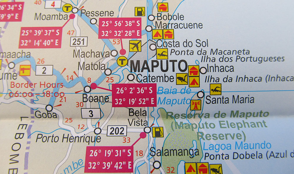 Map of Mozambique - it's got everything you need as a traveller