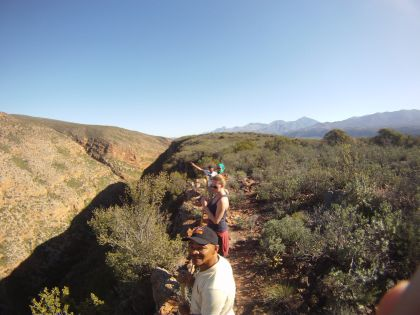 Red guiding hike into Klein Karoo