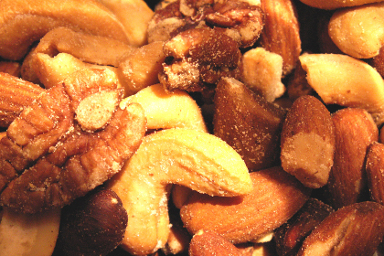 Mixed nuts make for great snacks for road trips when using a car rental.