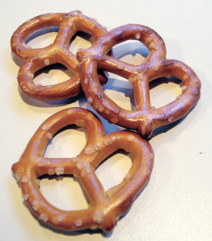 Pretzels make for great snacks for road trips when using a car rental.